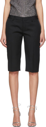 Saint Laurent Black Tuxedo Bermuda Shorts