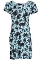 Select Fashion Fashion Womens Green Gingham Palm Tunic Dress - size 6