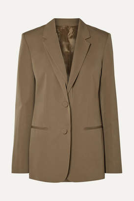 Helmut Lang Layered Wool-twill Blazer - Army green