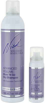 Nick Chavez Advanced Volume Blow N Go 7 oz Dry Shampoo w/ 1.2 oz. Travel