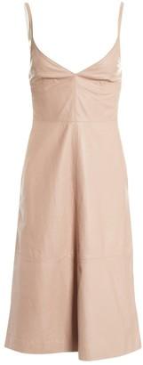 Valentino Pink Leather Dresses
