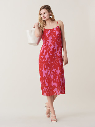 Diane von Furstenberg Novalee Pleated Midi Dress