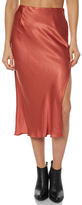 MinkPink Nina Side Split Skirt Orange