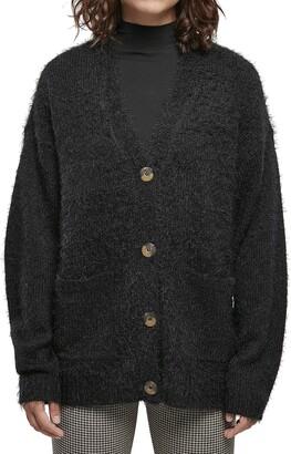 Urban Classics Women's Ladies Feather Cardigan Sweater
