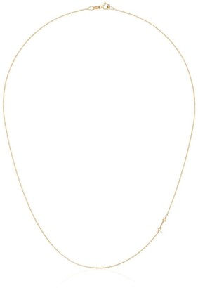 Lizzie Mandler Fine Jewelry 18kt Yellow Gold Mini Arrow Diamond Necklace