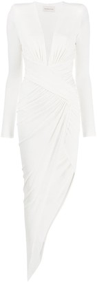 Alexandre Vauthier Asymmetric Ruched Dress