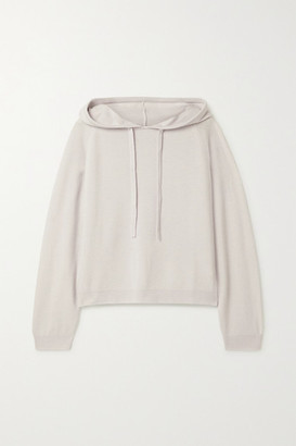 Allude Oversized Wool And Cashmere-blend Hoodie - Light gray