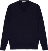 J. Lindeberg Mikael Navy V-Neck Sweater