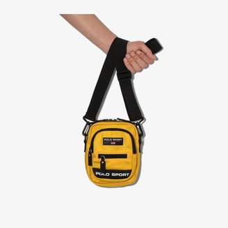 Polo Ralph Lauren yellow sport logo messenger bag