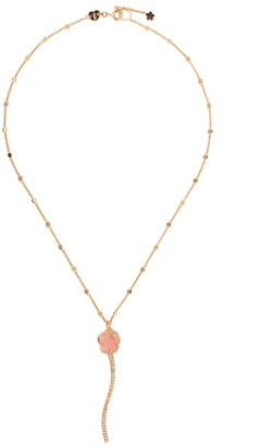 Pasquale Bruni 18kt rose gold Joli pink chalcedony, white and champagne diamond necklace