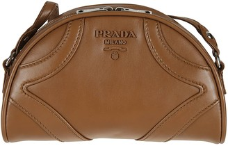 Prada Double Top Zip Shoulder Bag