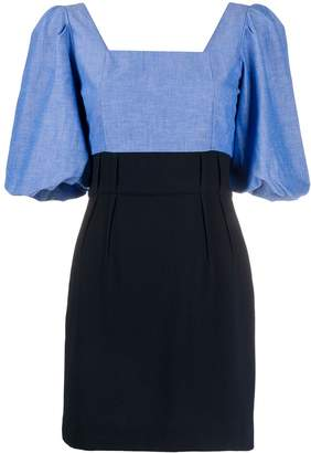Sandro Paris bell sleeve square neck dress