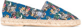 fe-fe parrot print espadrilles - men - Cotton/rubber - 36