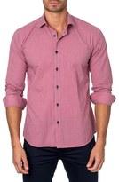 Jared Lang Trim Fit Dot Check Sport Shirt