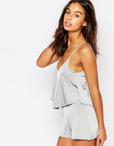 Boohoo Petite Double Layer Strappy Playsuit