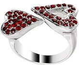 Body Candy Red Heartbreaker Heart Adjustable Ring