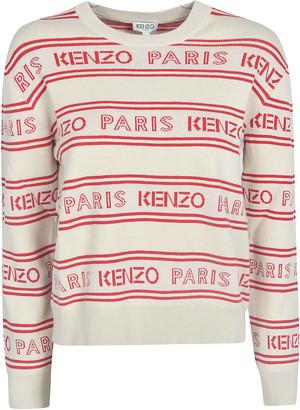 Kenzo Logo Stripe Panel Sweater