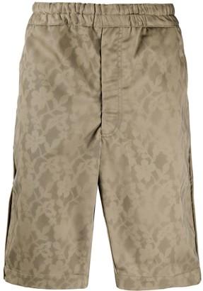 Comme des Garçons Shirt Elasticised Floral Print Shorts