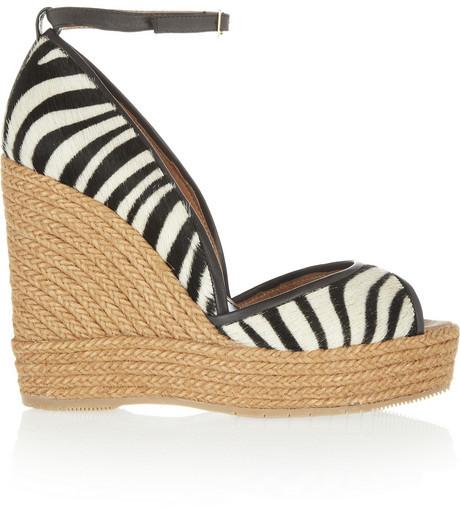 Paloma Barceló Calf hair wedge sandals