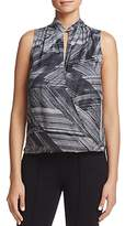 Kenneth Cole Printed Crossover Top