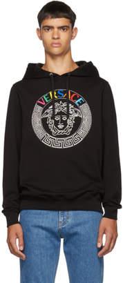 Versace Black Rainbow Embroidered Hoodie
