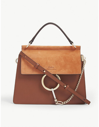 Chloé Faye small leather satchel