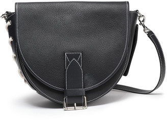 J.W.Anderson Bike Lace-up Smooth And Textured-leather Shoulder Bag