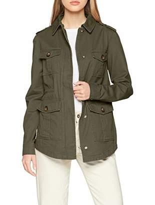New Look Women's 4 Pocket Utility Shacket Denim Jacket,8 (Size:8)