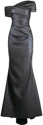 Talbot Runhof Asymmetric Gown