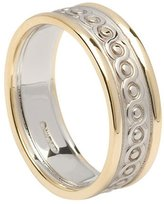 BORU Celtic Wedding Ring Womens 14K Two Tone Gold Irish Made 7