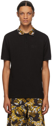 Versace Jeans Couture Black Barocco Polo