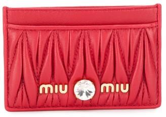 Miu Miu Matelasse leather cardholder