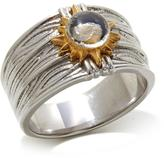 Michael Anthony Jewelry 2-tone Nativity Stone Stainless Steel Men's Ring