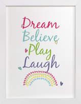 Minted Unicorn Whimsy Type Print Self-Launch Children's Art Print