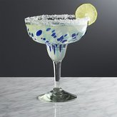 Crate & Barrel Rue Blue Margarita Glass