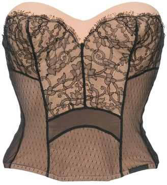 Christian Dior Pre-Owned strapless lace bustier