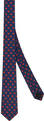 Fendi Apple Print Necktie