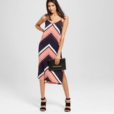 Mossimo Women's Striped Woven Slip Dress with Tie Straps Navy