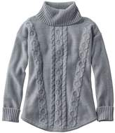 L.L. Bean Double L Mixed-Cable Sweater, Turtleneck