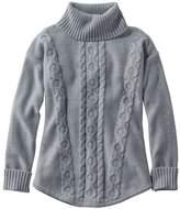 L.L. Bean L.L.Bean Double L Mixed-Cable Sweater, Turtleneck
