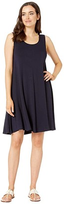 Karen Kane Maggie Trapeze Dress (Navy) Women's Dress