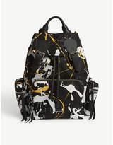 Burberry Splash Print Medium Backpack