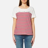 Maison Scotch Women's French Inspired Short Sleeve TShirt - White