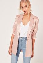 Missguided Pink Boyfriend Style Blazer
