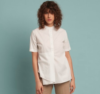 European Culture Short Sleeve Shirt 67 Hu White - S / White/67HU