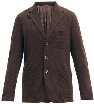 Barena Torcea Single-breasted Wool-blend Jersey Blazer - Brown