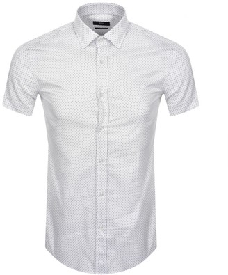 Boss Business BOSS Jats Short Sleeved Shirt White