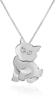 Forzieri Diamond & 18K Gold Cat Pendant Necklace