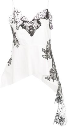 Marques Almeida Marques'Almeida draped lace-panel cami top