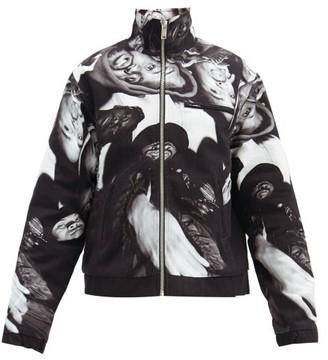 424 Wu-tang Fleece-lined Cotton Jacket - Black Grey